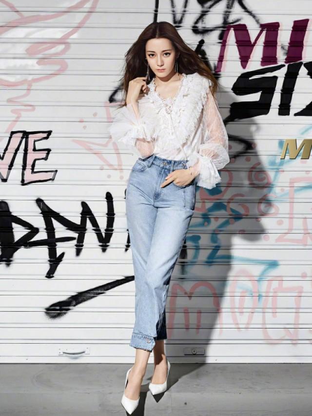 《長歌行》迪麗熱巴獲封「最會穿牛仔褲」的女人,掌握5大穿搭技巧 ,視覺激增+15CM!-1