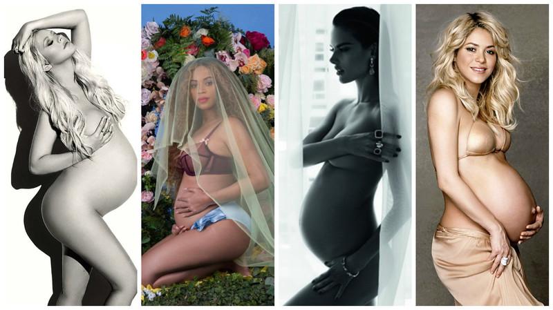 不只碧昂絲驕傲大秀唯美孕照, 這些名人也拍攝了超美懷孕藝術作品!