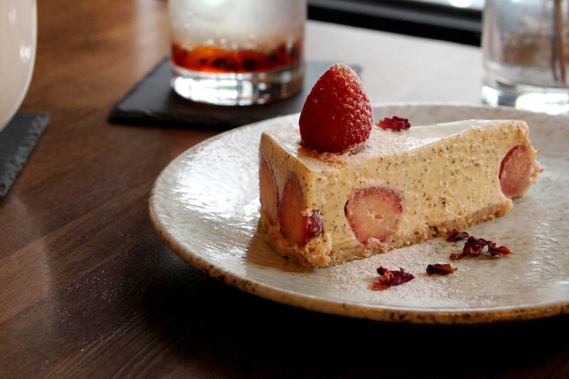 【別所 Shelter】台北大同區,迷人草莓乳酪蛋糕。咖啡廳 /不限時 /民權西路站