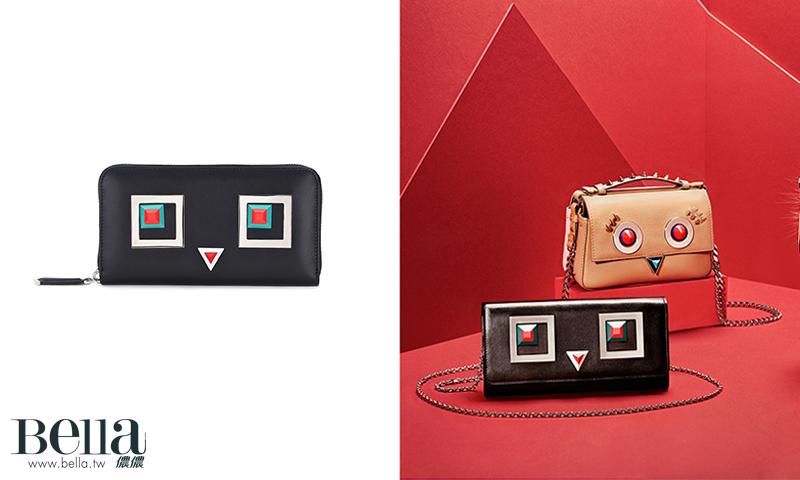 Fendi 機器人裝飾長夾,價格電洽