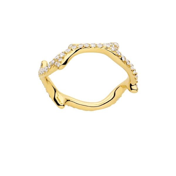 18K黃金舖砌式鑲嵌戒環 NTD 165,000