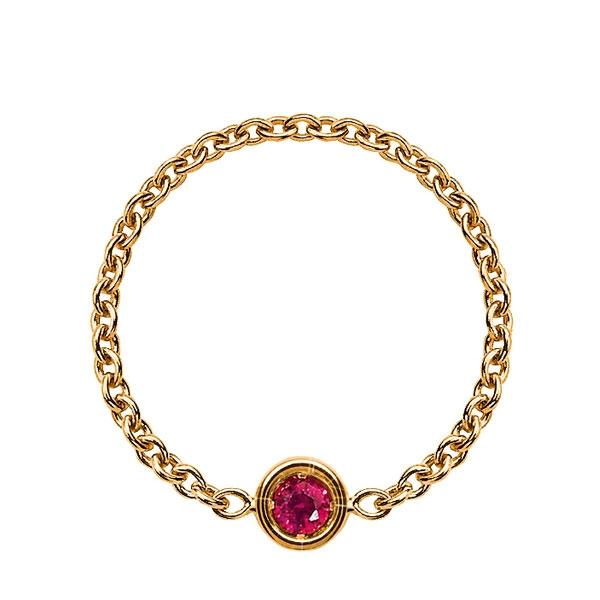 18K黃金鑲嵌紅寶石戒環 NTD 16,500