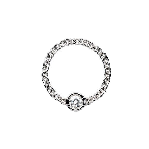 18K白金鑲嵌鑽石戒環 NTD 53,000