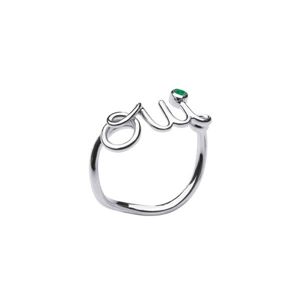 18K黃金鑲嵌祖母綠戒指