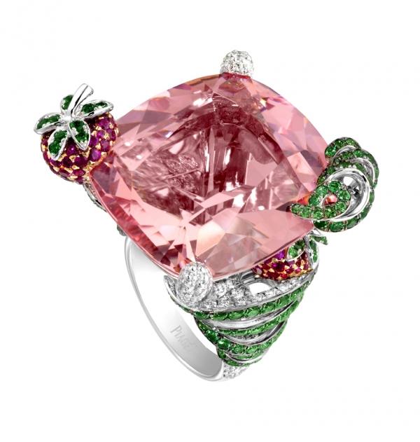 MAI TAI 18K 白金指環,鑲嵌286顆圓形美鑽、122顆圓形切割紅寶石,NT$ 2,799,500