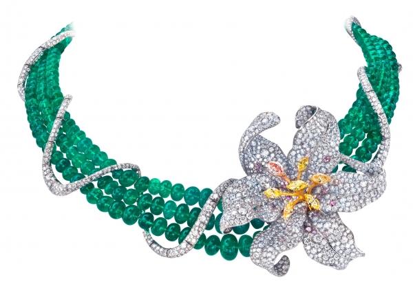 華裔珠寶設計師 ANNA HU 珠寶展作品-杜蘭朵 百合 項鍊