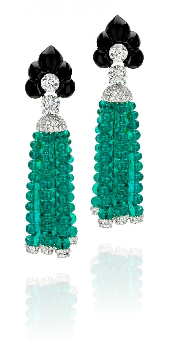 華裔珠寶設計師 ANNA HU 珠寶展作品-杜蘭朵 等待 耳環