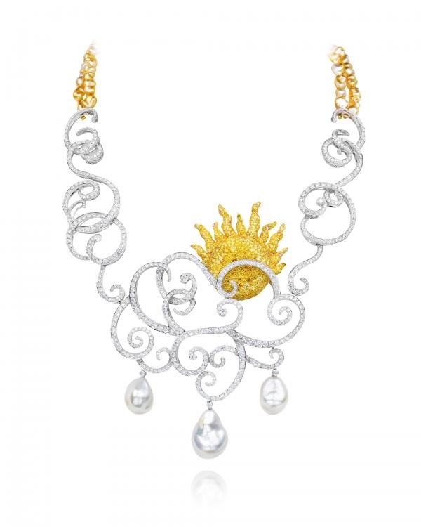 華裔珠寶設計師 ANNA HU 珠寶展作品-春曉 項鍊