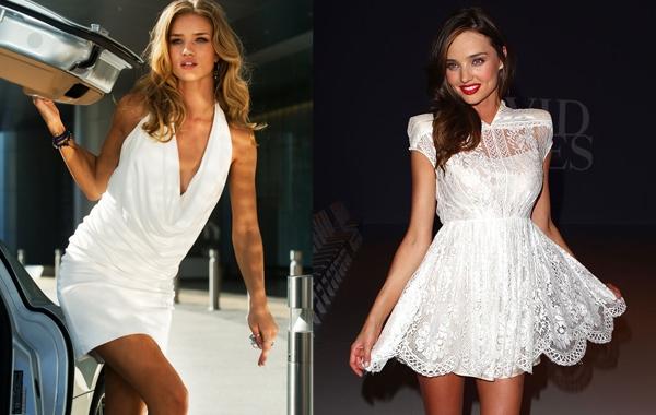 超模米蘭達可兒Miranda Kerr甜美x小傘裙  蘿絲杭廷頓懷利Rosie Huntington Whiteley 性感XV領上衣