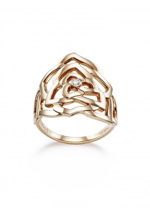在黃K金材質上鑲嵌一顆單獨的白鑽輕輕點綴,也是格外亮眼。