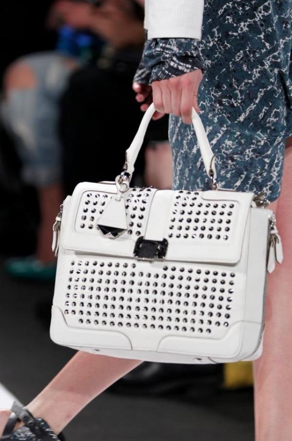 Rebecca Minkoff Elle Mini Studded Satchel Bag,NTD.12,553