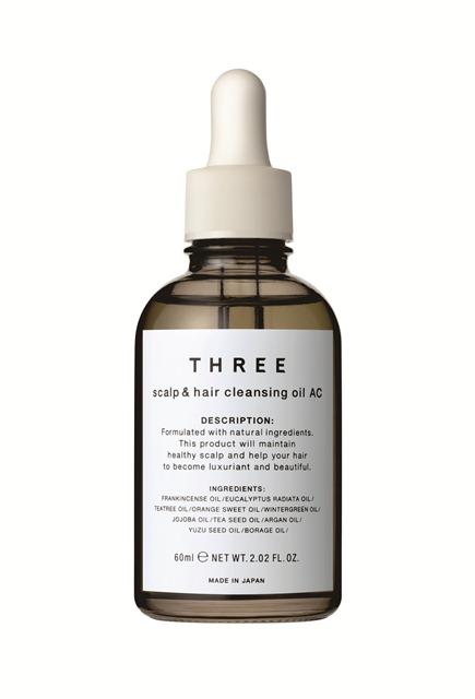 THREE 舒活頭皮淨化晶油,60ml,1,400元。