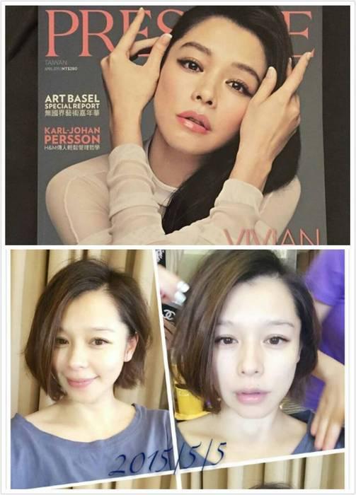 短髮的VIVIAN根本是逆齡少女,臉部線條也顯得更柔和。