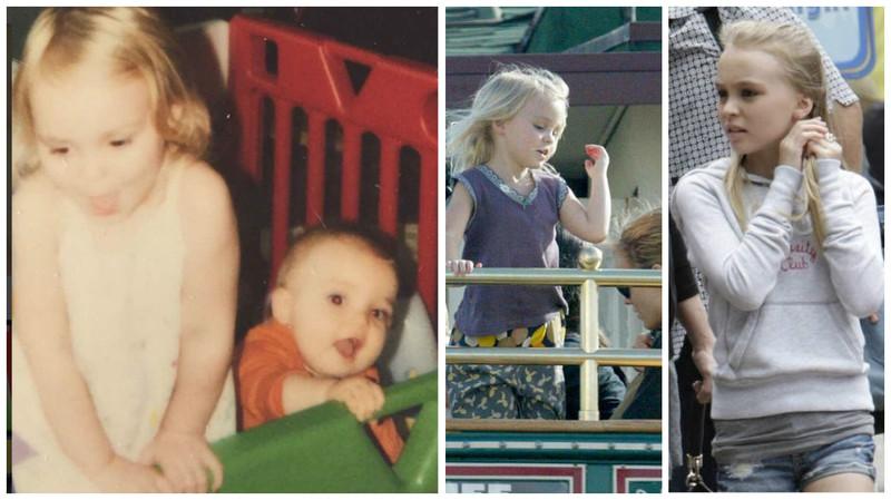 從小到大就是美人胚子, 根本就是真人版洋娃娃。 圖片來源:〈從左到右〉lily-roes dapp instagram、namecandy.com、