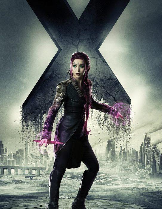范冰冰在電影 X-Man 中的扮相。