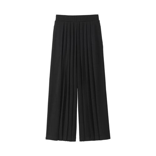 Uniqlo女裝打褶寬襬褲,790元。