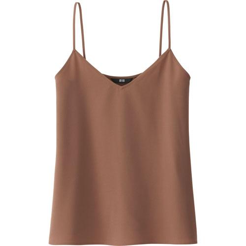 Uniqlo女裝垂墜風細肩帶上衣,790元。