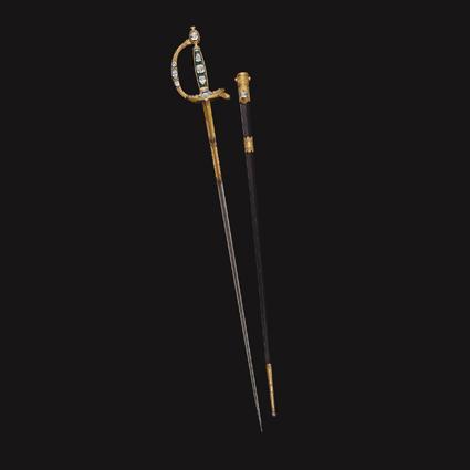 """1802年,拿破崙一世""""加冕之劍"""" 。"""