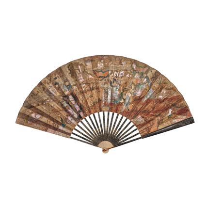 1830年,中國靈感摺扇。