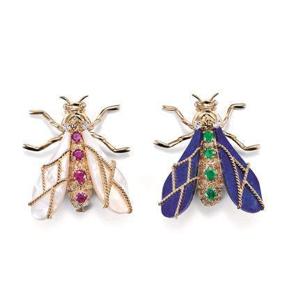 """1975年,象徵拿破崙家徽的""""蜜蜂"""" 胸針。"""