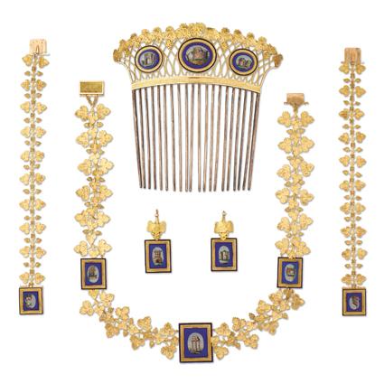 1810,瑪麗 · 露易絲皇后微砌馬賽克日間首飾套裝盒。