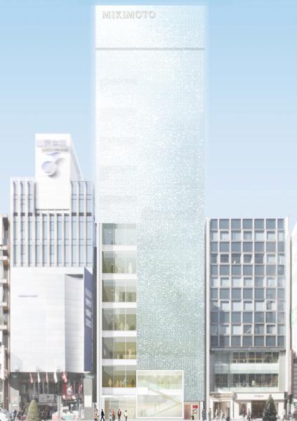 MIKIMOTO全新銀座四丁目本店,由知名建築大師內藤廣先生操刀,從海面上波光粼粼的迷人模樣汲取靈感,透過超過4萬片玻璃磚,打造出銀座新地標。