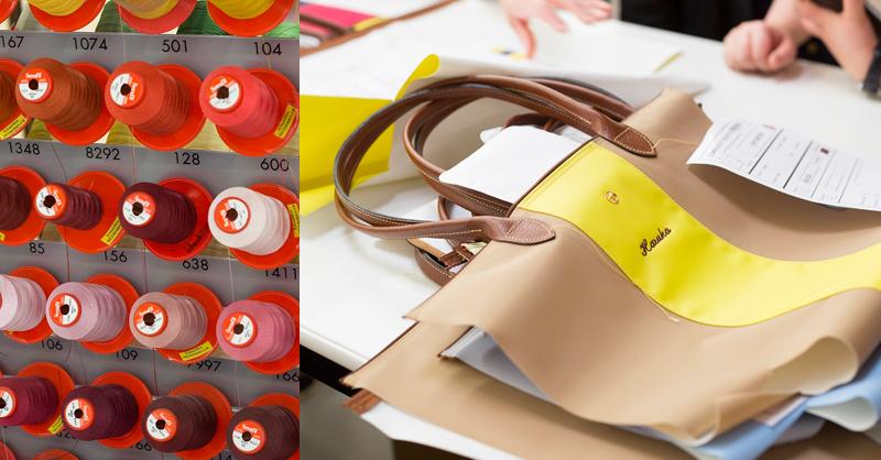 Longchamp Le Pliage® Personalized 經典尼龍摺疊包訂製,售價在NT$ 4,000元至7,100元不等。美調色線都還有獨立編號,訂製的圖案急性名縮寫皆由工匠人手織成。