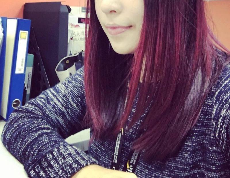 S編實測結果~紫紅色髮飽和亮澤度100分