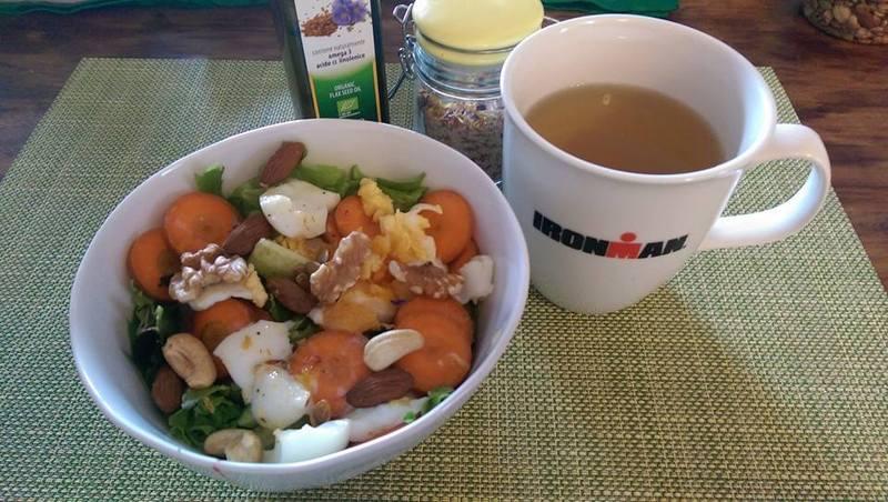 向不健康的食物說再見,馮云天天自製健康餐點。