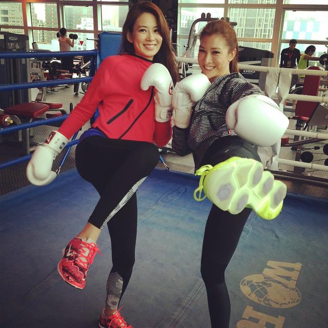 和Melody一起主持節目外,好姊妹倆也會相約運動去。