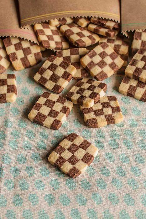這種格子餅乾,又叫做棋盤餅乾哦~
