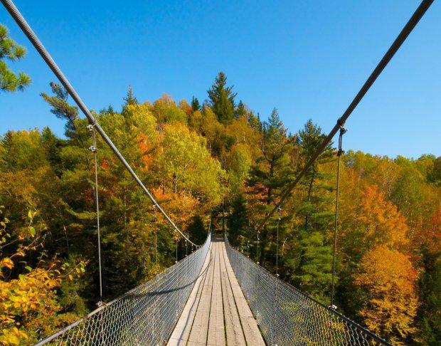 吊橋的另一端,好像是通往神秘又美好的童話世界。