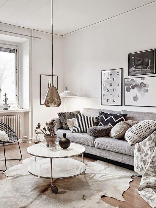 雖然整體式以白色調為主,但因為有布料的搭配,使得整個空間沒有過於冰冷的感覺