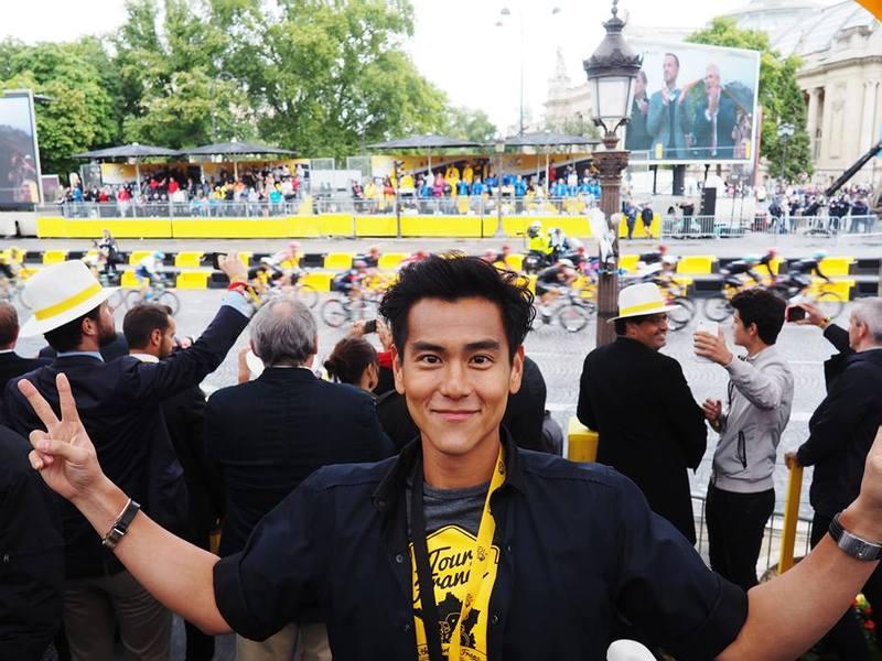 因為拍攝電影,彭于晏也愛上單車運動。