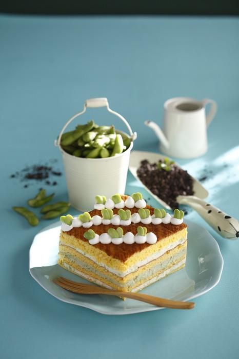 枝豆海綿蛋糕。
