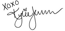 Kylie Lip Kit 包裝上的可愛簽名