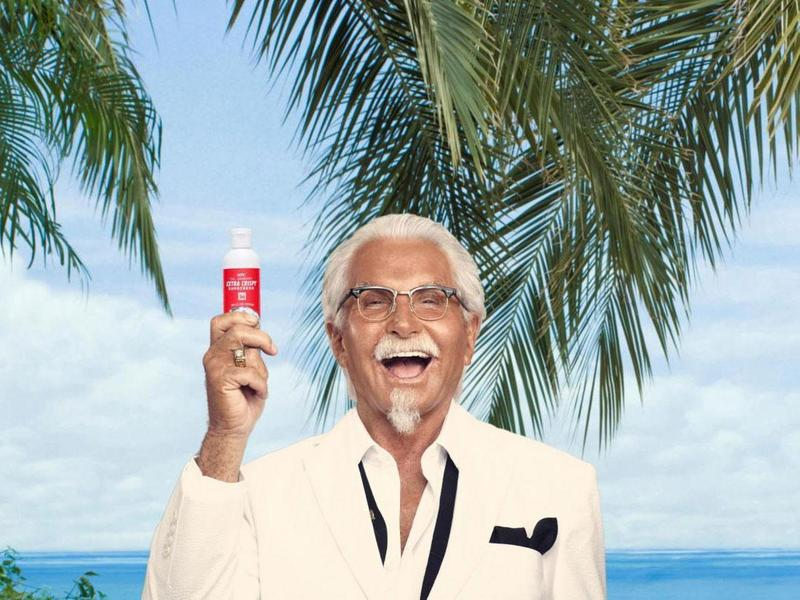 繼香港推出炸雞指甲油後 KFC又出防曬油!
