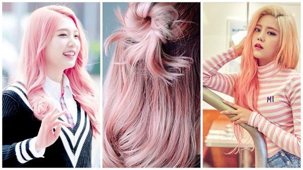 韓國女團體 Red Velvet 的 Joy 和 AOA CREAM 的 Yu-Na 都染了石英玫瑰