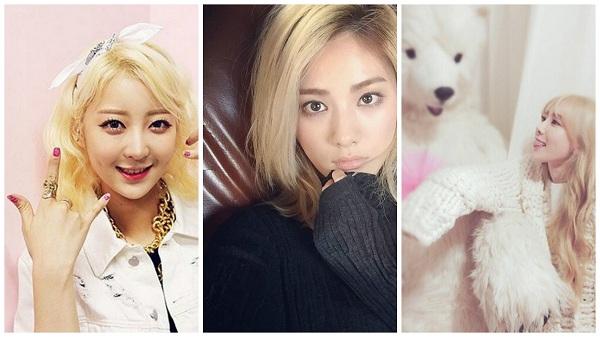 EXID的慧琳、Aftershool 的美顏Nana、少女時代隊長太研的金髮造型比外國人還美