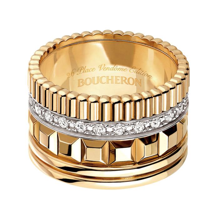 BOUCHERON-四點巴黎關鍵  黃K金鑽戒, 357,000