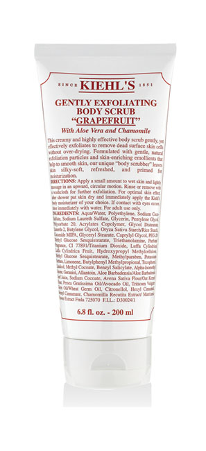 Kiehl's 葡萄柚身體去角質乳霜,200ml,1,080元