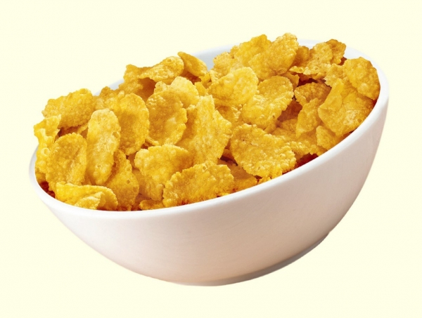選擇大片的玉米片