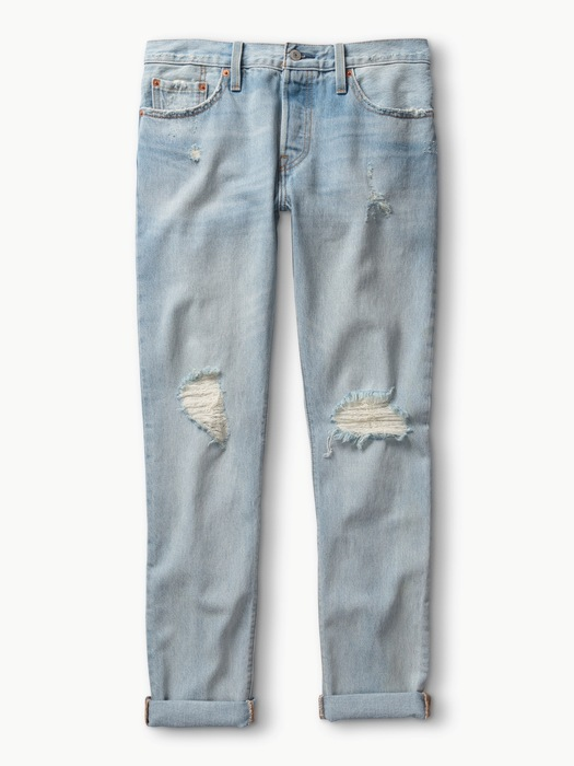 Levi's破壞設計反摺丹寧褲,價格電洽