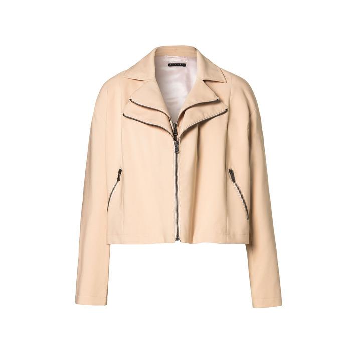 Sisley 粉色皮質夾克,價格未定。