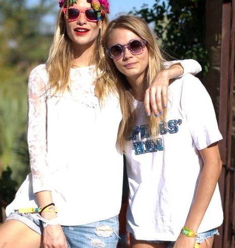 卡拉迪樂芬妮Cara Delevingne和姐姐芭碧迪樂芬妮Poppy Delevingne
