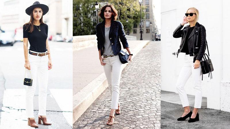 夏天是屬於白色的季節!除了基本款白T外,白色牛仔褲也不能錯過