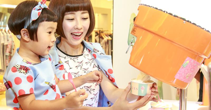 凍齡女神李維維與最萌無臉男萌萌擔任IBLUES冰淇淋甜心一日店長!