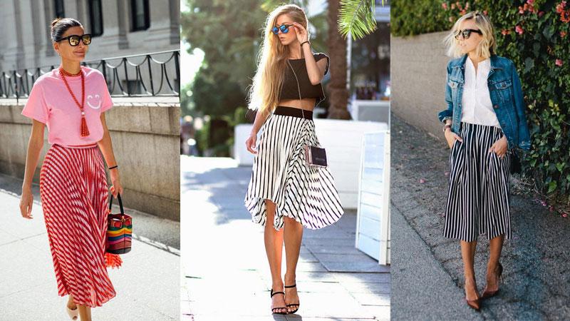 夏天只要一件條紋裙,就能穿出顯高顯瘦的時尚風格
