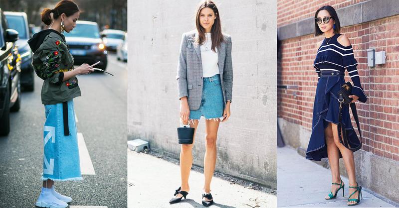 夏季牛仔裙先別急著收,換個搭配方式讓妳一路穿到秋冬