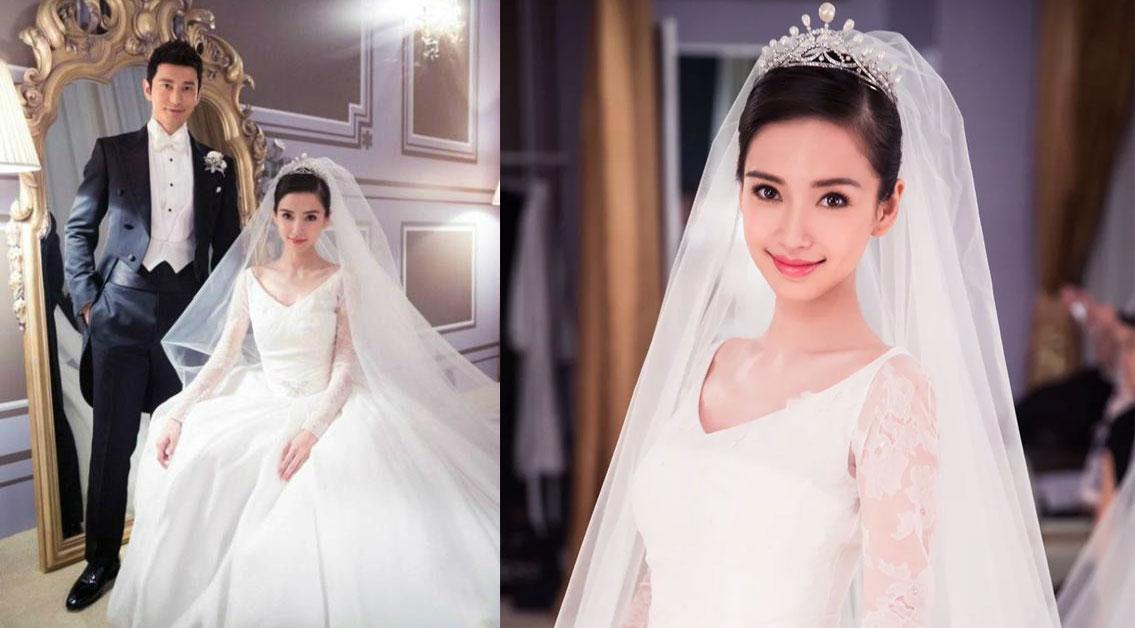 Angelababy婚紗